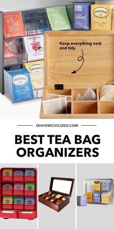 If you take your tea seriously, then you'll love a good tea bag organizer. Here are the best ones in the market that I recommend you check out. Click to continue. Hot Tea Recipes, Perfect Cup Of Tea, Tea Sandwiches, Brewing Tea, Best Tea, How To Make Tea, Milk Tea, Afternoon Tea, Tea Party
