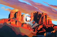 "Landscape Paintings and photographs : ""Sunset Shadows"" by Rafe Terry acrylic on panel Landscape Concept, Fantasy Landscape, Landscape Art, Landscape Paintings, Landscapes, Watercolor Landscape, Grand Canyon Sunset, Desert Art, Dry Desert"