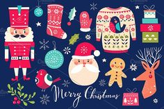 Christmas set: Santa Claus & others  @creativework247