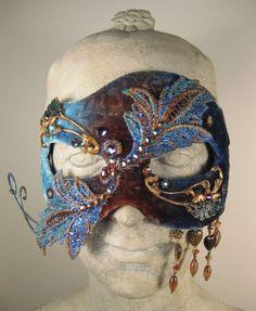 ff1120b08c0d Blue Masquerade Mask//Masquerade Ball Mask//Mens Masquerade Mask//Halloween Masquerade  Mask//Masquer