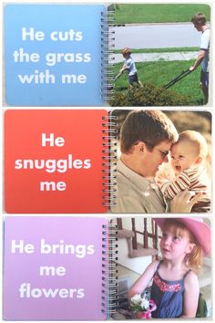 Personalized Father's Day gift ideas: A Daddy & Me photo board book from Pinhole Press. Have your kids help with the words!