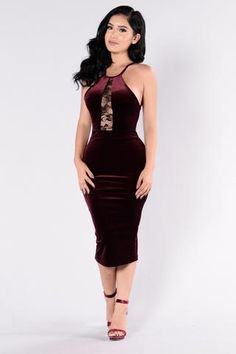 She's Got A Way With Words Dress - Burgundy