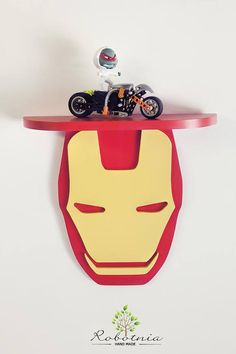 Iron Man Shelf Shelf For Baby Nursery Kids Room Wall