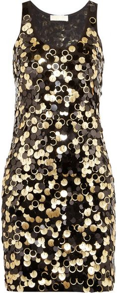 Michael by Michael Kors ~ Paillette Embellished Jersey Mini Dress