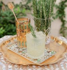 It's time for a drink! Check out our feature on @huffpostweddings for some holiday cocktail recipes, like this Rosemary Clooney created by the stellar mixologists @thegoodlionbar. Special thanks to @swooncalifornia + @willhousecreative for making our vintage barware look so pretty! Check out our profile link for recipes + more photos!  #huffpostido #cocktailtime #holidayspirit #tistheseason #santabarbara #celebrate #festive #mixology #vintageglassware #eventrentals #partytime #happyhour