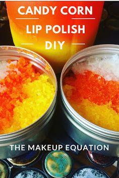 The Makeup Equation: Candy Corn Lip Polish DIY