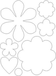 30 Images of Felt Flower Template Handmade Flowers, Diy Flowers, Fabric Flowers, Paper Flowers, Applique Templates, Applique Patterns, Felt Patterns, Flower Patterns, Felt Flower Template