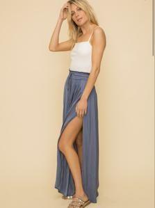 Deep Side Slit Maxi Skirt – Riley and Harper Maxi Styles, Loungewear Set, Satin Material, Faux Leather Leggings, Vintage Skirt, Skirt Fashion, Short Skirts, Boho Chic, Skirt Set