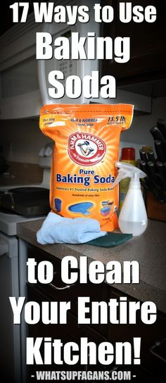 Baking soda uses for kitchen cleaning | how to clean kitchen appliances stove tops, oven, dishwasher, fridge, towels, grout, floors, and more with baking soda!