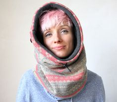 Nordic knit scarf Chunky knit cowl scarf Snock® chunky by jaffic
