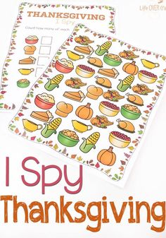 Free Printable Thanksgiving I Spy