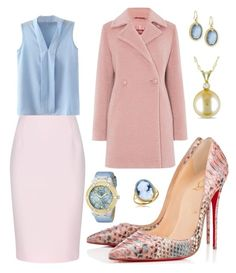 """cotton candy"" by elvira-8390 ❤ liked on Polyvore featuring MaxMara, Christian Louboutin, Finders Keepers, Armenta, GUESS, Del Gatto and Allurez"