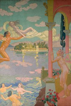 """Maurice Denis """" 1908-9 Panel 2. Zephyr Transporting Psyche to the Island of Delight ©2003 State Hermitage Museum  """""""