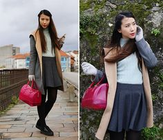 Get this look: http://lb.nu/look/8065234  More looks by Yules Yeung: http://lb.nu/letmedreamblog  Items in this look:  Furla  Candy Bag, Massimo Dutti  Grey, Victoria Black, Zara Pleated   #follow