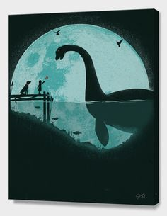 """""""Encounter Under a Blue Moon"""", Numbered Edition Canvas Print by Jay Fleck - From $69.00 - Curioos"""