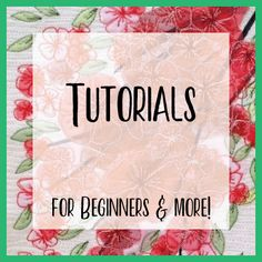Tutorials: Getting started – For beginners Browse these useful guides for taking your first steps in thread sketching. Free Motion Embroidery, Machine Embroidery Patterns, Free Motion Quilting, Embroidery Thread, Thread Painting, Thread Art, Fabric Painting, Fabric Art, Quilting Thread
