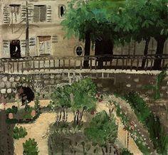 alongtimealone: Winifred Nicholson (British, 1893-1981), Paris Garden, c.1933. Oil on board.