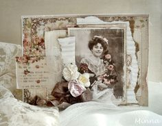 Vintage card by Minna for Pion Design. Image from Grandma's Attic ~ tinted