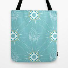 Sailing Pattern Tote Bag by Figen Topbaş  - $22.00