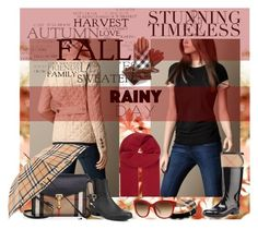 """Burberry Rainy Day Style"" by yours-styling-best-friend ❤ liked on Polyvore featuring MANGO and Burberry"