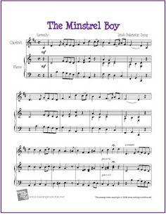 The Minstrel Boy | Free Sheet Music for Easy Clarinet - http://makingmusicfun.net/htm/f_printit_free_printable_sheet_music/the-minstrel-boy-clarinet-solo.htm