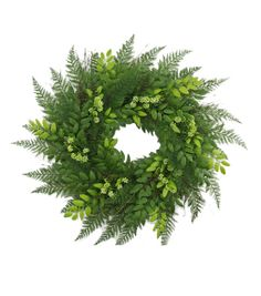 Floral Inspirations Lace Fern Honey Locust Wreath 30'', , hi-res