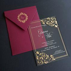Acrylic Wedding Invitations, Creative Wedding Invitations, Wedding Invitation Cards, Wedding Cards, Wedding Card Design, Wedding Designs, Wedding Stage, Dream Wedding, Outdoor Wedding Decorations