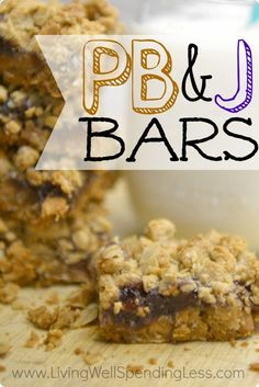 Easy Peanut Butter Jelly Bars | Quick Easy Homemade PBJ Bars Check out more recipes like this! Visit yumpinrecipes.com/