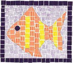 paper fish mosaic