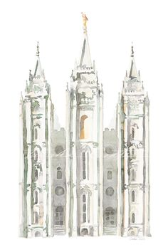 Prints of my LDS Salt Lake Temple watercolor painting. This is a fresh take on a classic temple, perfect for any home looking for a updated and modern feel. Depending on size chosen, some cropping may occur.  I created this piece in October of 2015, I wanted to paint the temple in a way that would be timeless and unique, with an option for both boy and girl rooms, as well as anywhere else in the home.