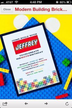 Lego party invite