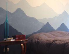 DIY mountains mural