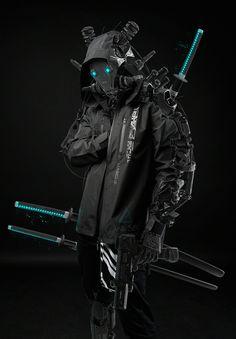 by Ahmet Atıl Akar black and white sketch samurai ninja Arte Cyberpunk, Cyberpunk 2077, Cyberpunk Girl, Cyberpunk Aesthetic, Cyberpunk Fashion, Steampunk Fashion, Gothic Fashion, Cyberpunk Tattoo, Arte Ninja