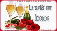 Trimite si tu un gand frumos intr-o felicitare tuturor care porta numele sfantului Ioan! Click pentru a alege o felicitare! Flute, Alcoholic Drinks, Champagne, Rose, Tableware, Glass, Christmas, Quotes, Happy New Year