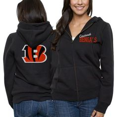 Cincinnati Bengals Ladies Game Day Full Zip Hoodie - Black