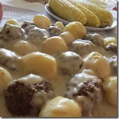 This is a recipe that I found and fitted to a pressure cooker. It's very authentic and has all the great flavour of Ike's Swedish Meatballs, but has none of the questionable meats or additive...