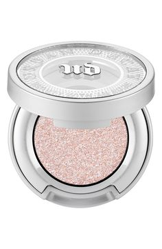 Moondust eyeshadow by Urban Decay. Moondust Eyeshadow by Urban Decay is a sparkly, sophisticated, yet super-refined eyeshadow that m. Iridescent Eyeshadow, Sparkle Eyeshadow, Glitter Eye Makeup, Cream Eyeshadow, Colorful Eyeshadow, Makeup Eyeshadow, Cosmetics Glitter, Sparkle Makeup, Metallic Eyeshadow