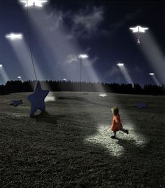 Alastair Magnaldo who is influenced by his children and Japanese film maker Miyazaki creates these beautiful surreal-like photographic creations.