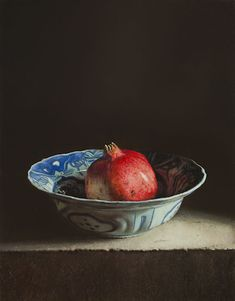 """Still life with pomegranate"" - Oil painting by Erkin (Uzbekistan, b. Dutch Still Life, Still Life 2, Still Life Fruit, Be Still, Photo Fruit, Still Life Oil Painting, Fruit Painting, Dutch Artists, Vanitas"