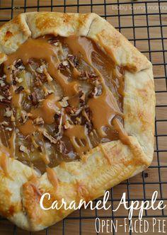 Caramel Apple Open Faced Pie Recipe