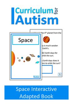 Space Interactive Adapted Physics Book for students with Autism and Special…