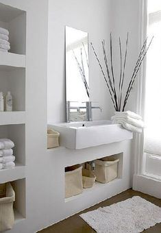 Small bathroom mirrors – If your bathroom is small and you want it to look bigger Midcentury modern bathroom Ikea bathroom Powder room Bathroom inspiration Specchio bagno Mirror ideas Open Bathroom, Interior, Trendy Bathroom, Modern Bathroom Design, House Interior, Bathroom Interior, White Bathroom, Bathrooms Remodel, Bathroom Decor