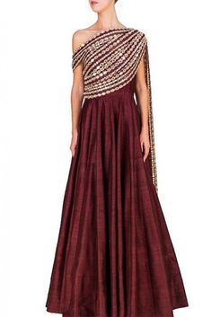 Shop online Ridhima Bhasin designed Indian dresses and ethnic wear at our mega store. We offer exclusive Indian designer dresses online with express delivery. Indian Designer Outfits, Indian Outfits, Designer Dresses, Indian Clothes, Stylish Dresses, Fashion Dresses, One Piece Gown, Frocks And Gowns, Anarkali Dress