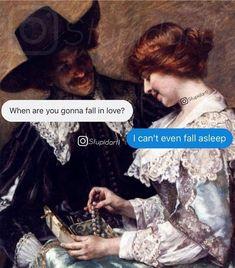 Funny Video Memes, Cute Memes, Funny Quotes, Medieval Memes, Art History Memes, Classic Memes, Haha, Classical Art Memes, Deep Photos