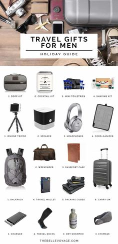 Travel Gifts for Men   Travel Gift Ideas   Travel Gifts for Friends   Unique Travel Gifts   Holiday Gift Guide   Gift Ideas for Him   Christmas Gifts for Him   Gift Ideas for Guys #travel #gifts #guide