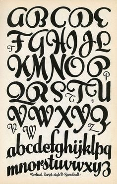Vertical Script - Fonts - Ideas of Fonts - Lettering Fonts Alphabet I like the loopy natural flow of the curves in the Hand Lettering Fonts, Creative Lettering, Lettering Styles, Lettering Design, Cool Handwriting Fonts, Graffiti Font, Graffiti Alphabet, Alphabet Design, Letter Designs
