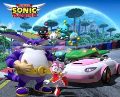 "SEGA Celebrates Sonic's Birthday with ""Team Rose"" Reveal for Team Sonic Racing Hedgehog Birthday, Sonic Birthday, 27th Birthday, Sonic And Amy, Sonic And Shadow, Hedgehog Movie, Sonic The Hedgehog, Sonic Car, Sonic Boom"