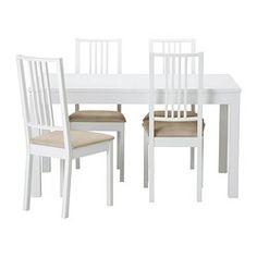 IKEA   BJURSTA / BÖRJE, Tavolo E 4 Sedie, Tavolo Estensibile Con 2  Prolunghe: Fa Spazio A 4 8 Persone E Permette Di Adattare La Misura Del  Piano Alle Tue ...