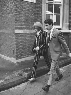 Rolling Stone Brian Jones leaving court after appearing on drugs charges. circa 1967