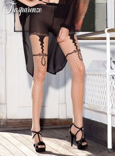 <3...Trasparenze Trimming Tights...